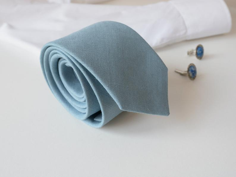 Dusty Blue Wedding Neck Tie