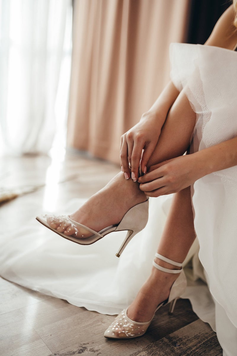 Embroidered Bridal Heels