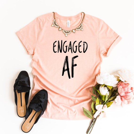 living coral engaged af wedding engagement shirt