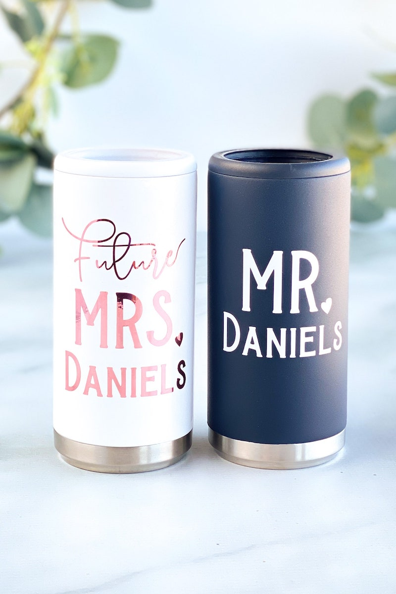 Engagement Gift Skinny Can Cooler