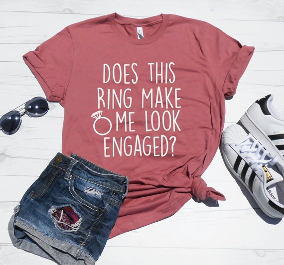 engagement ring wedding shirt
