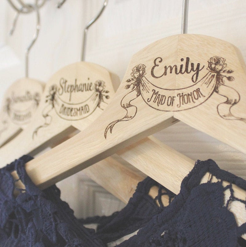 Engraved Bridesmaid Hangers