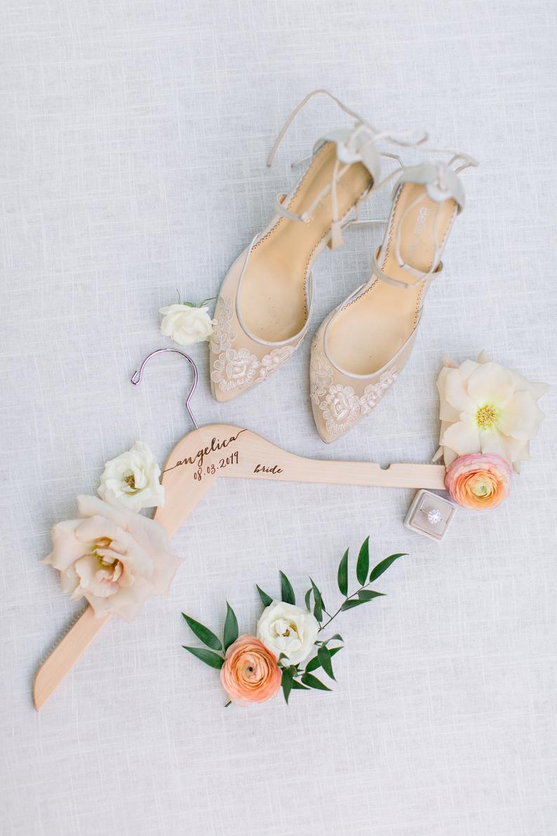 Engraved Dress Hanger for the Bride