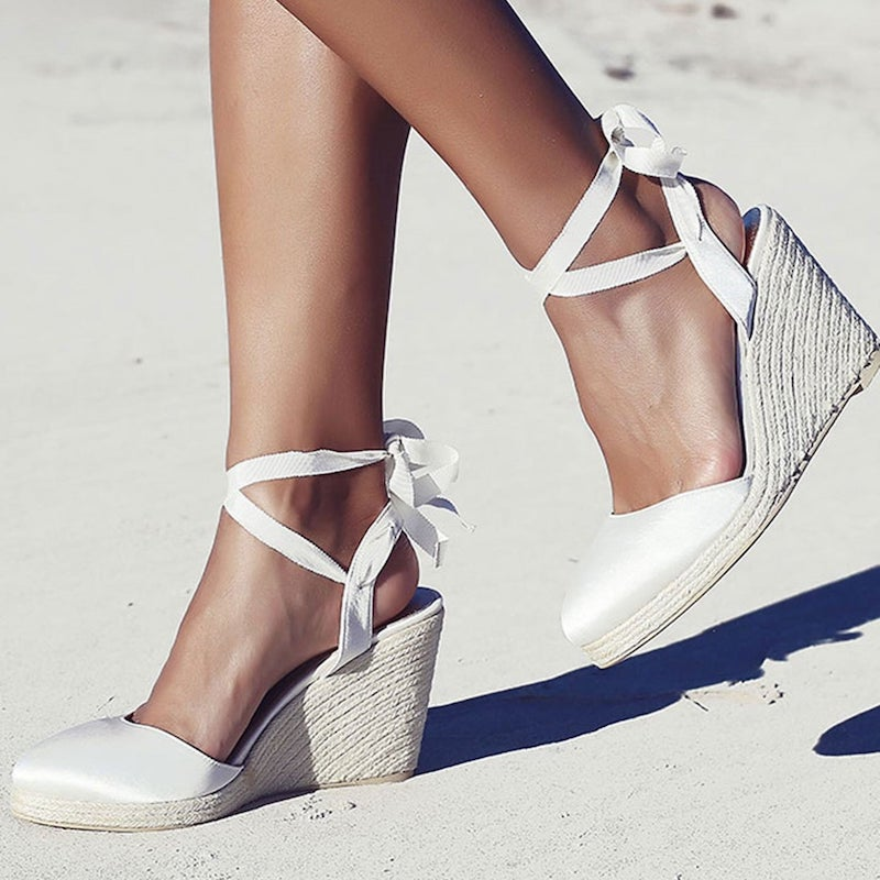 Espadrille Wedge Bridal Shoe