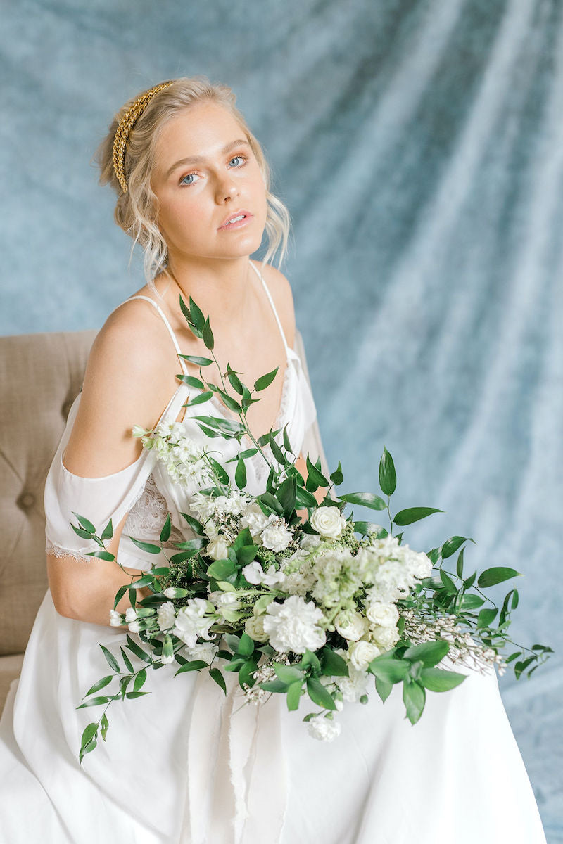 Ethereal Bride with Bridal Bouquet