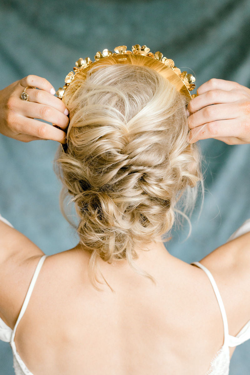 Ethereal Bridal Crown and Hairstyle
