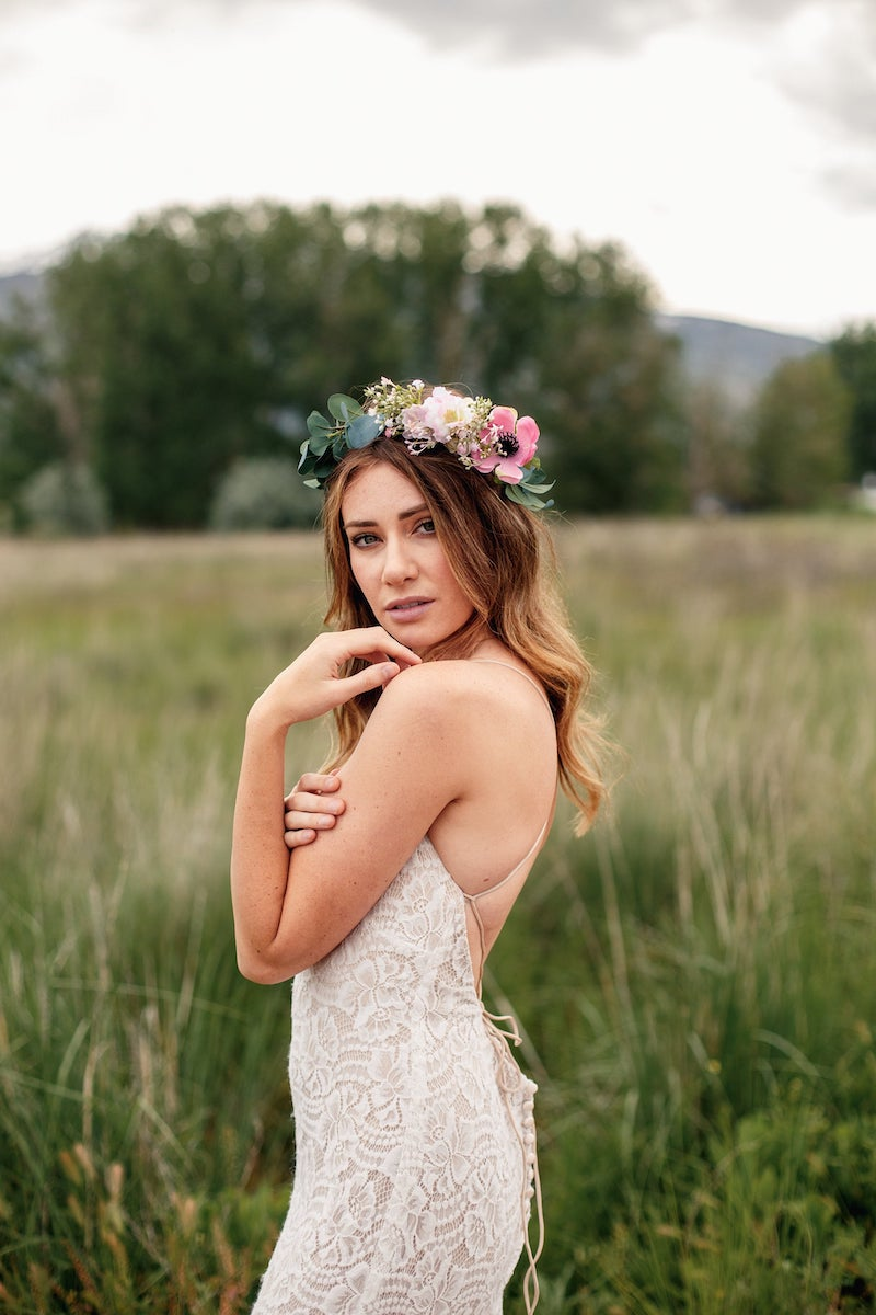 Eucalyptus and Blush Flower Crown