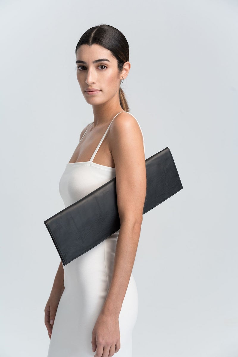 Extra Long Leather Clutch for Bride