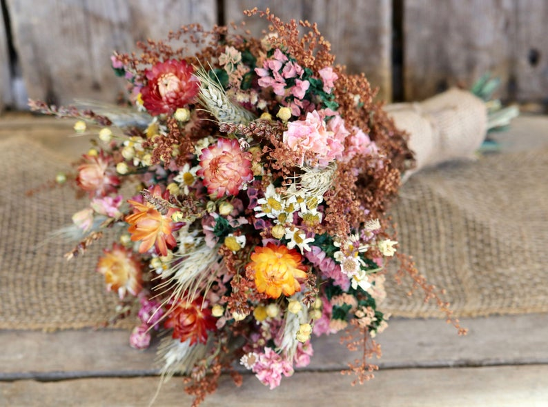 Fall Themed Rustic Bridal Bouquet