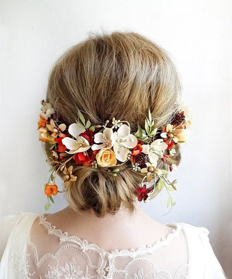 Fall Bridal Flower Crown