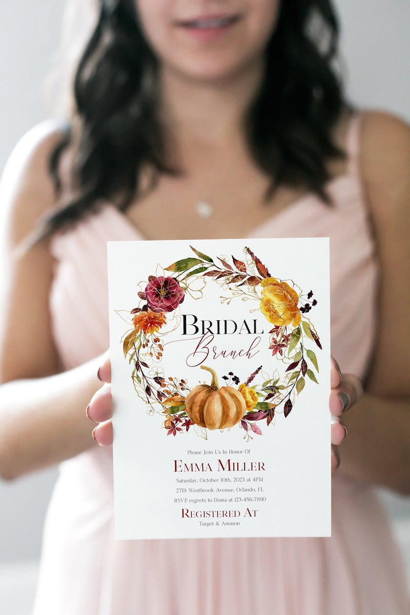 Fall Bridal Shower Invitation Bridal Brunch