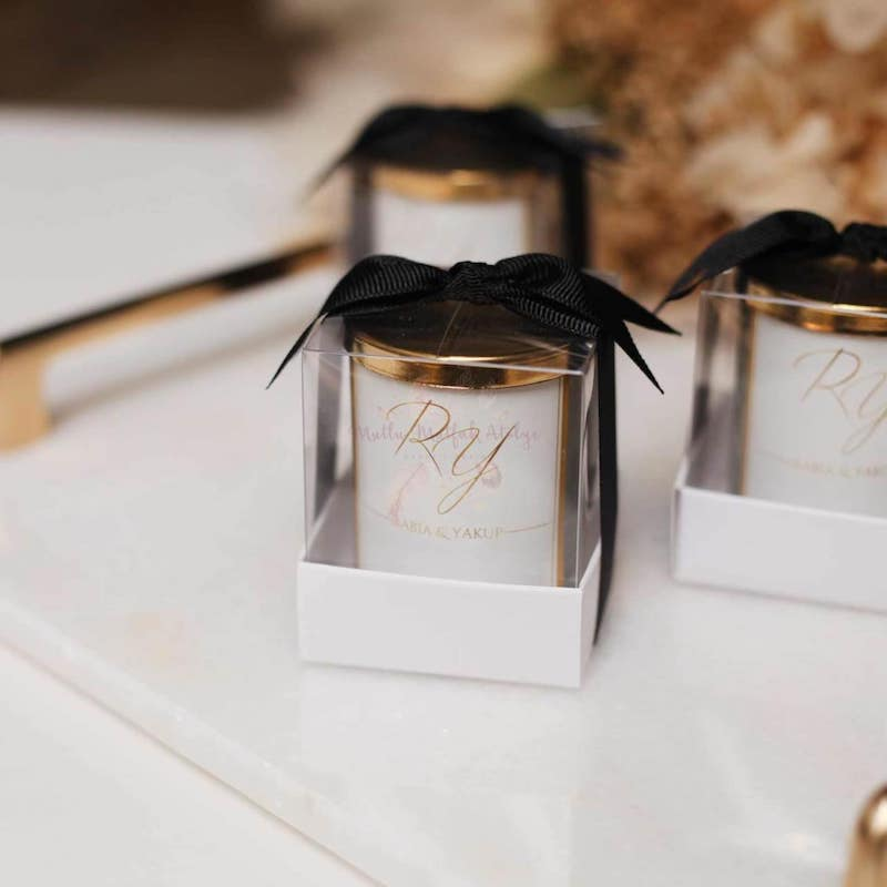 Fall Candle Wedding Favor