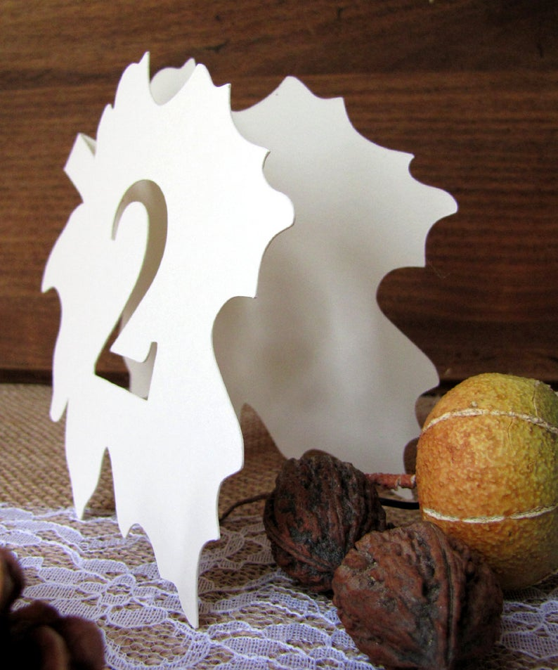 fall wedding table numbers