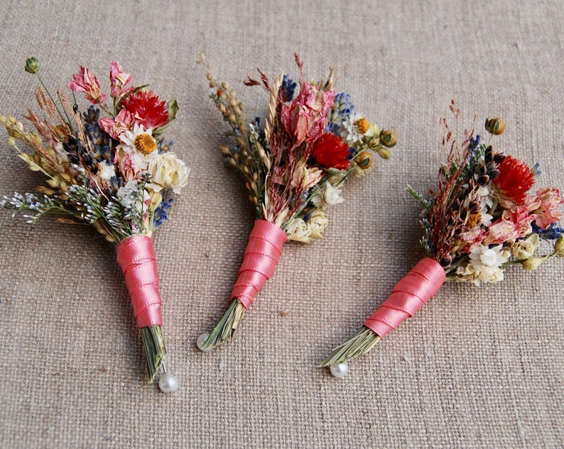 Fall Themed Boutonnieres