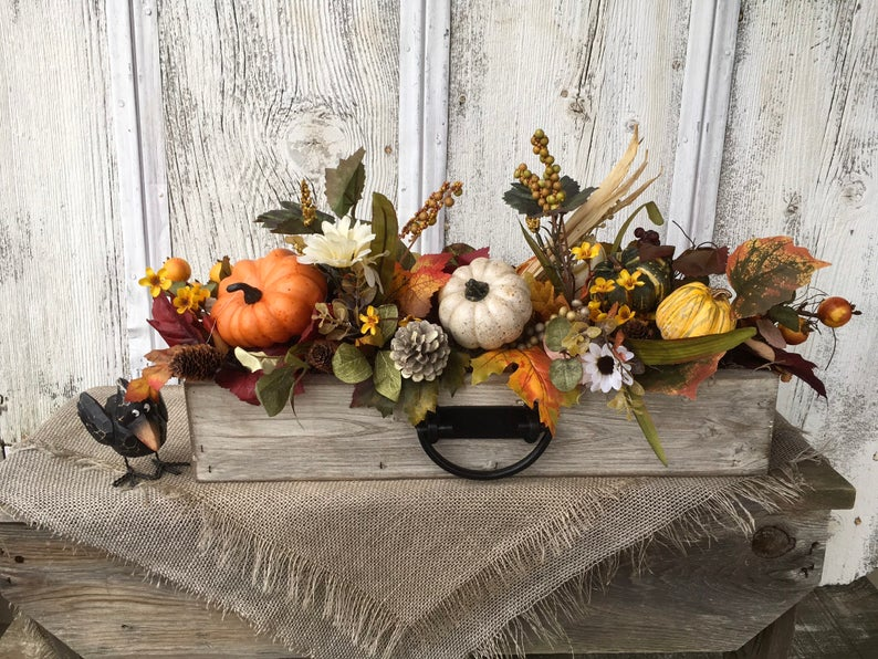 Fall Themed Wedding Centerpiece