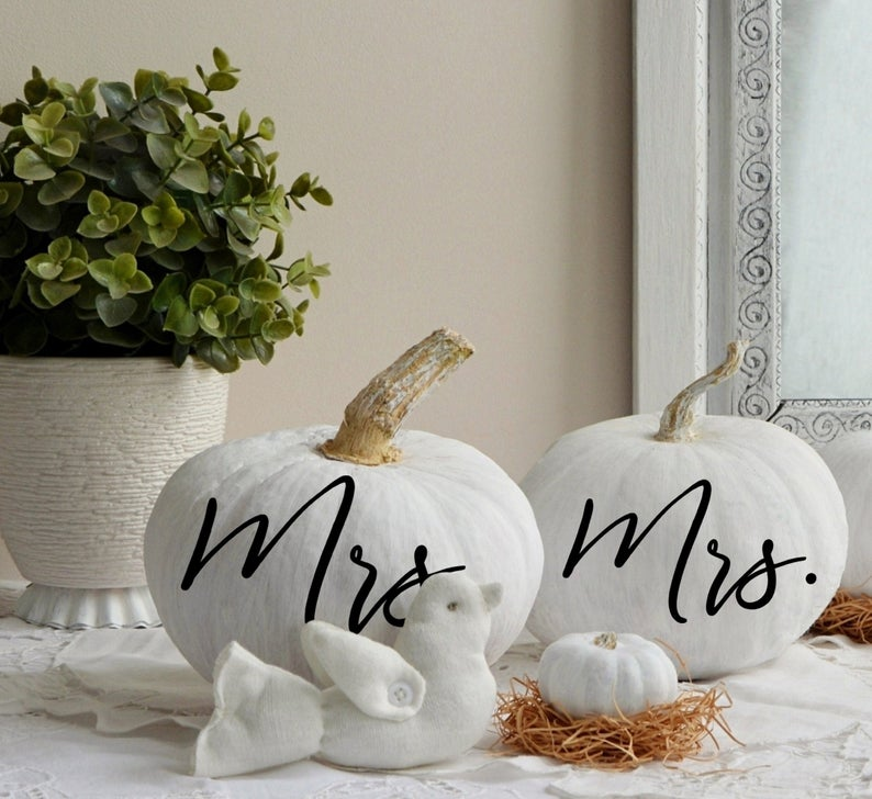 Mr. and Mrs. Pumpkin Decals