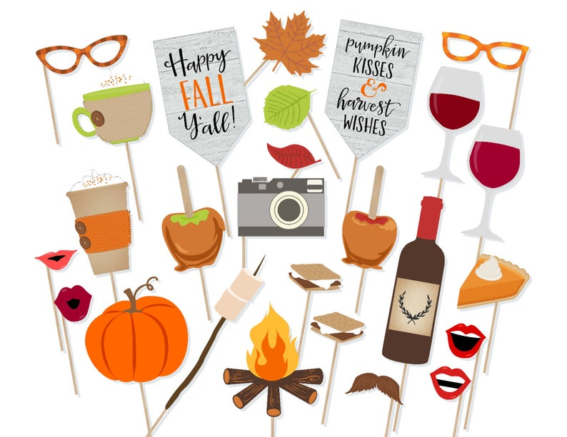Photo Booth Props For Fall Wedding
