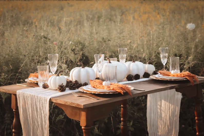 Fall Wedding Table Runner