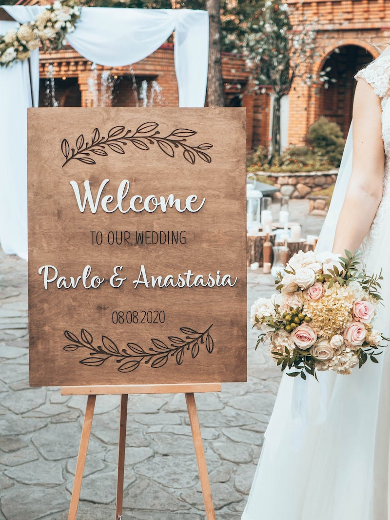 Fall Wedding Welcome Sign