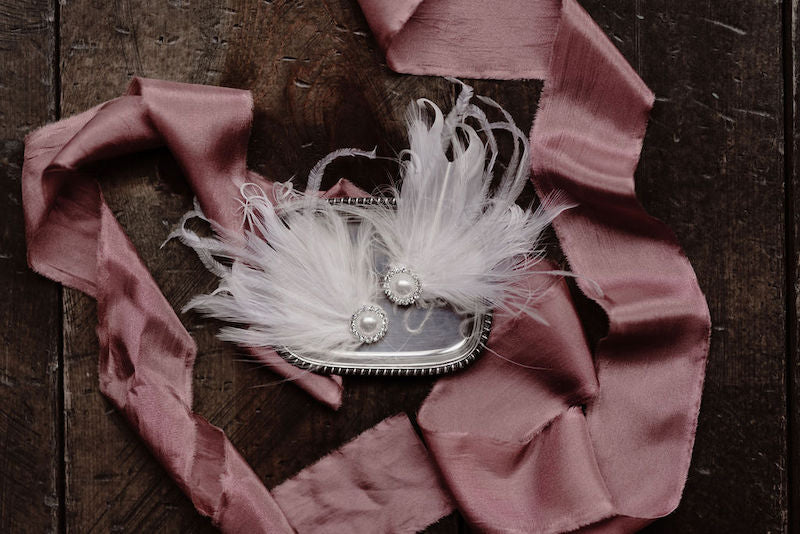 White Feather Earrings for Ballet Inspired Wedding
