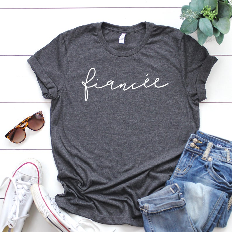 Fiancee T-Shirt for Bride Wedding and Engagement