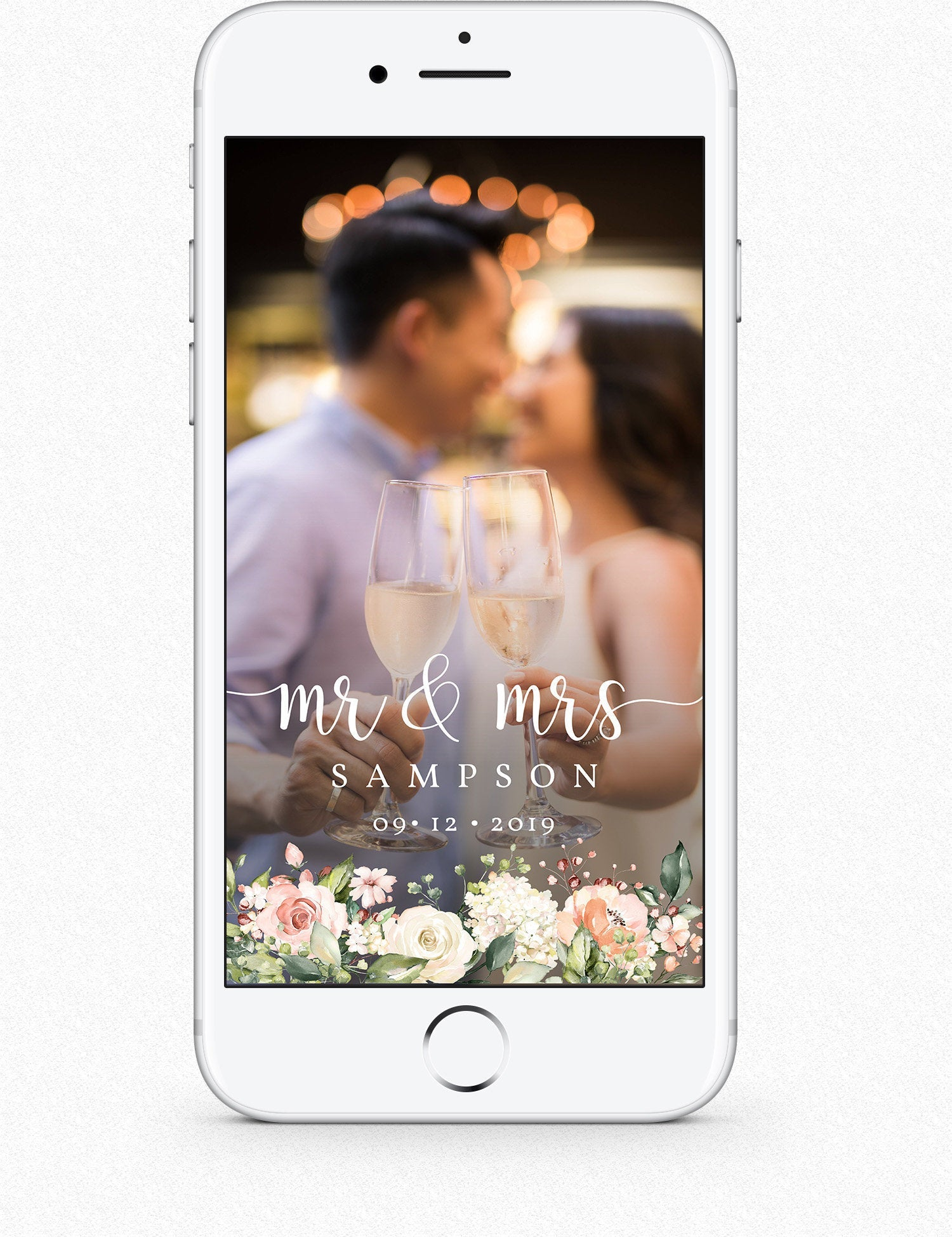 Floral Wedding Snapchat Filter