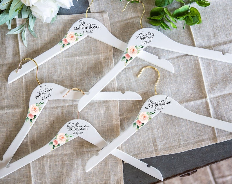 Flower Dress Hangers for Bridal Party