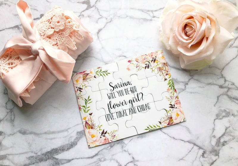 Flower Girl Puzzle Gift