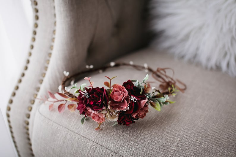 Flower Wreath Headband Crown