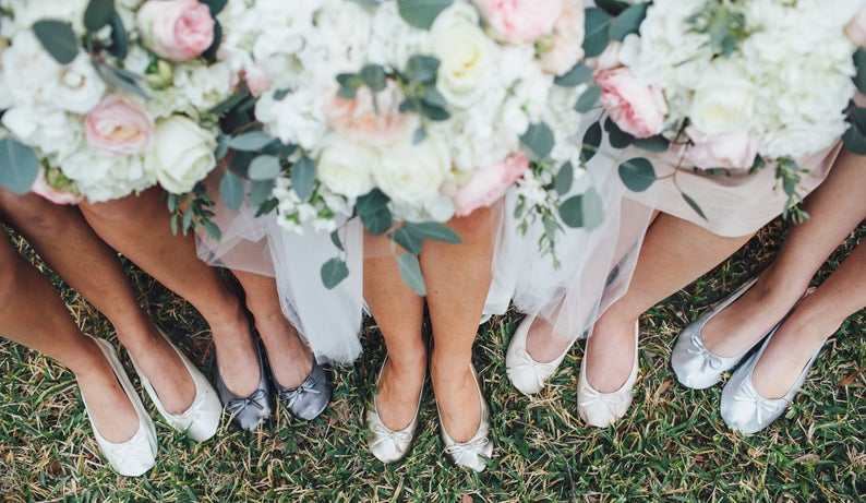foldable shoes for bridal party