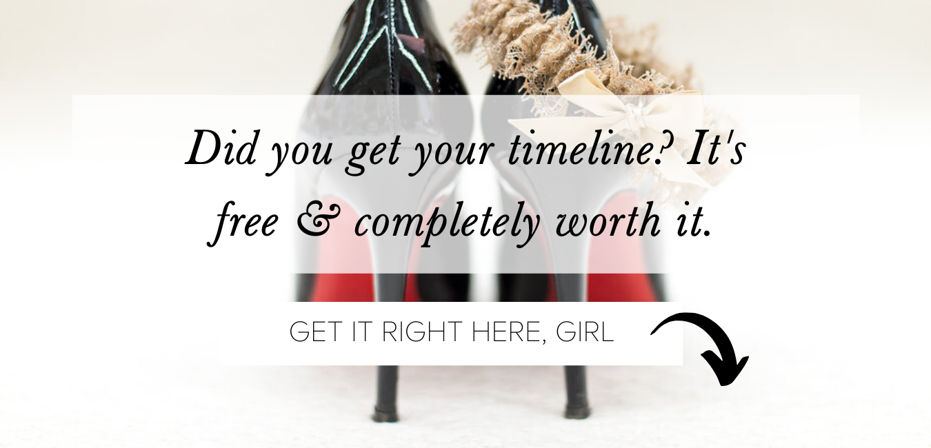 free bridal fashion checklist from The Garter Girl