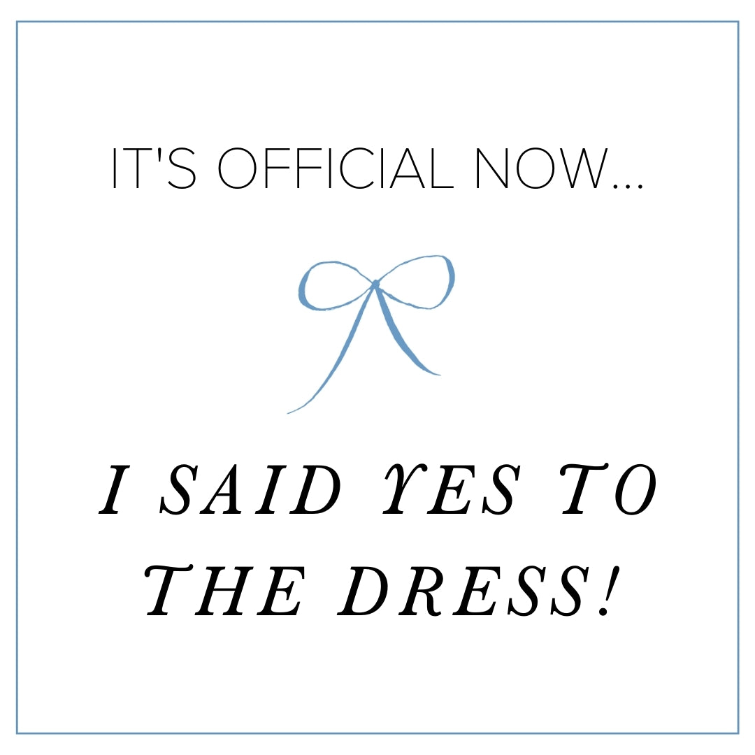 i said yes to the wedding dress free download Instagram post from The Garter Girl