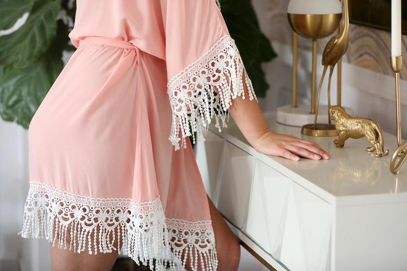 Fringe Plus Size Wedding Robe