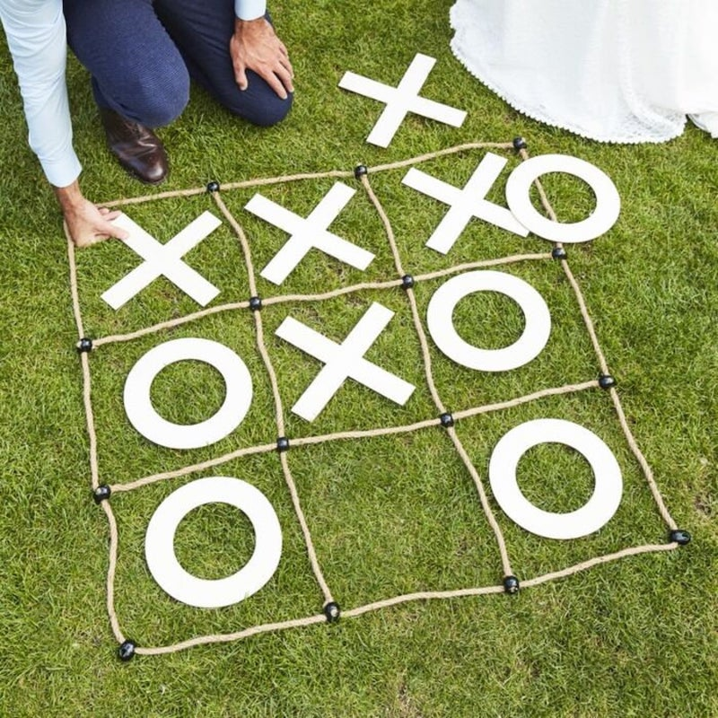 Giant Tic Tac Toe Outdoor Wedding Game