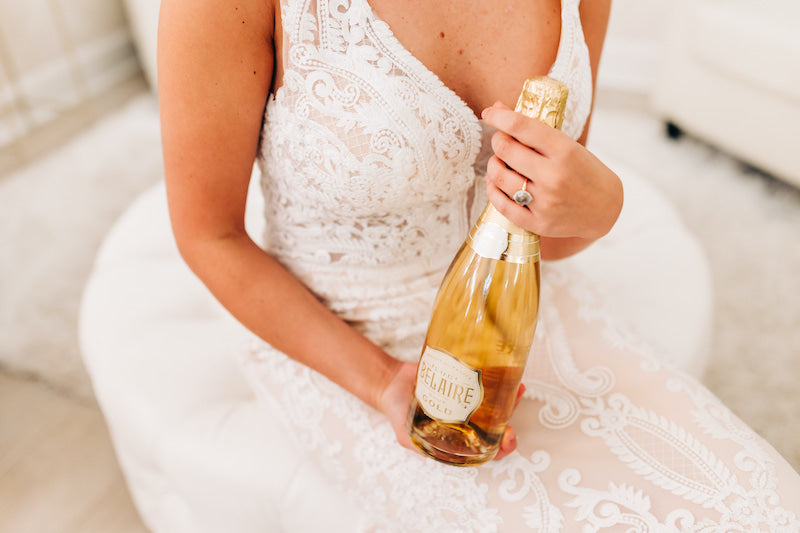 Glamorous Bridal Portraits with Champagne