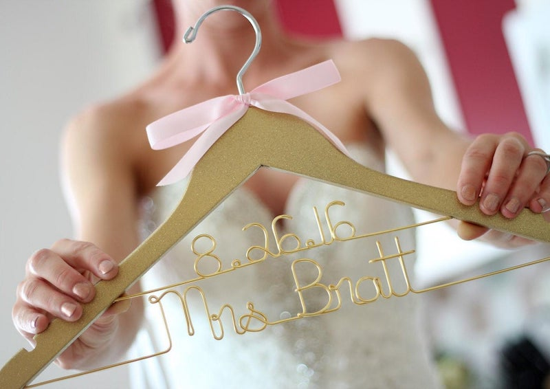 Gold Wedding Dress Hanger