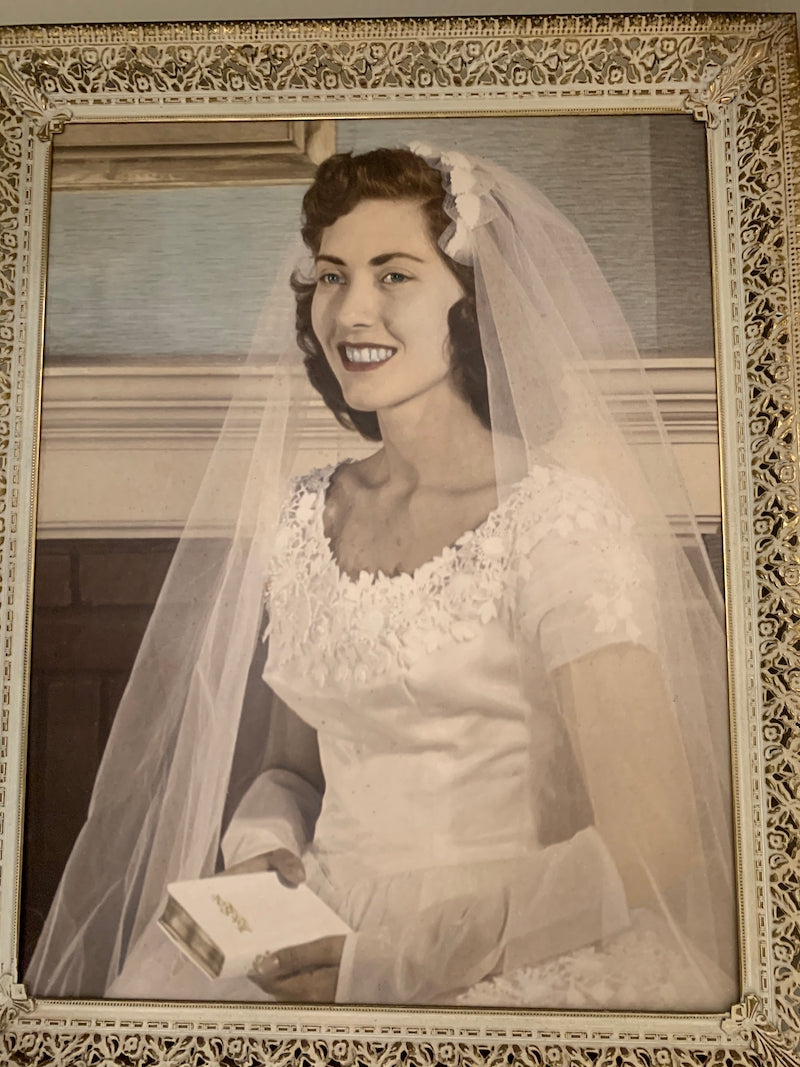 grandmother wedding dress 1956