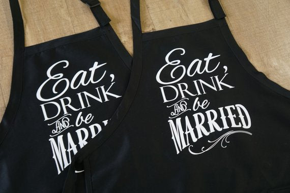 grilling apron wedding engagement gift for groom