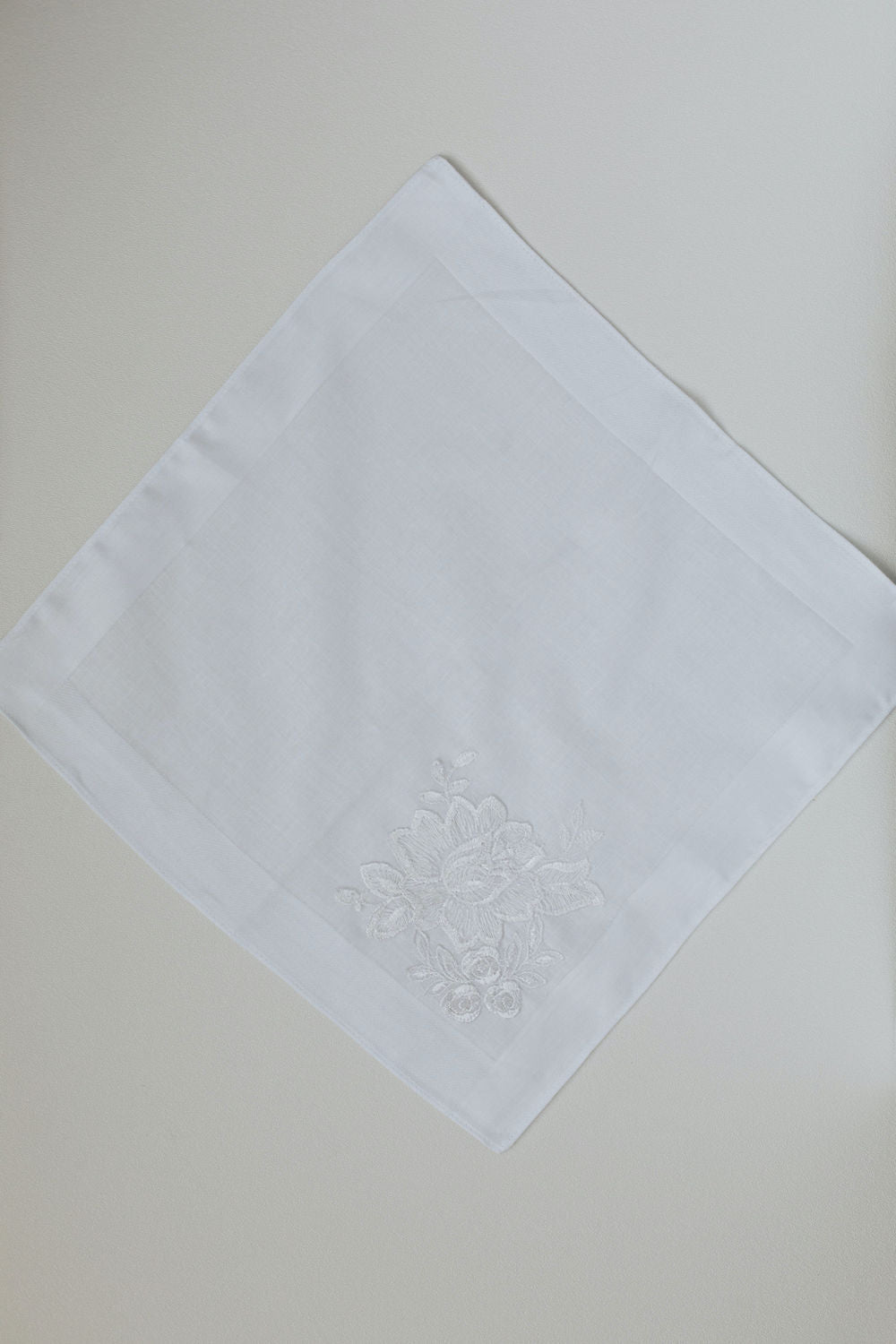 handkerchief made with lace from mothers wedding dress by The-Garter-Girl