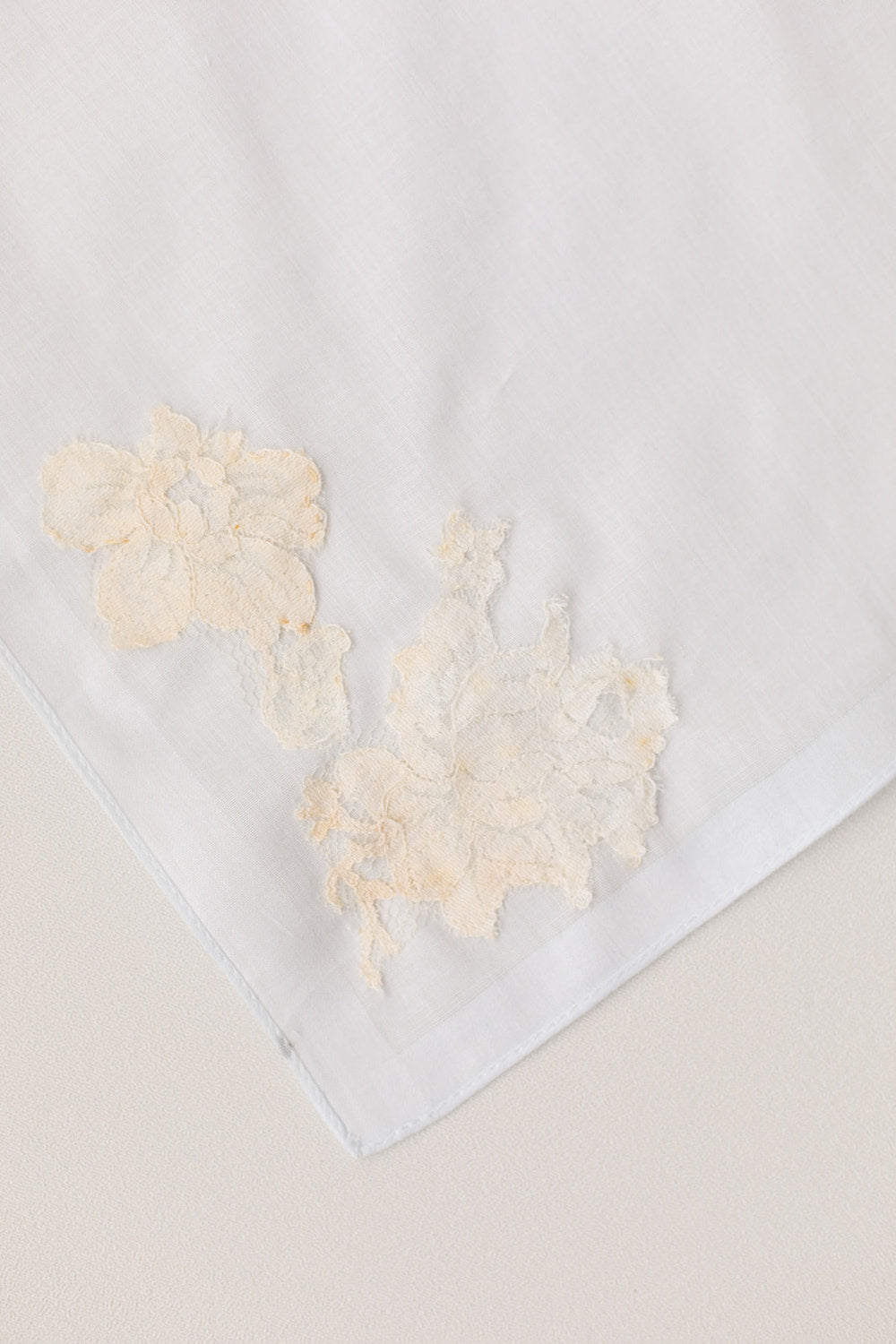 hankie from bride's mom's wedding dress
