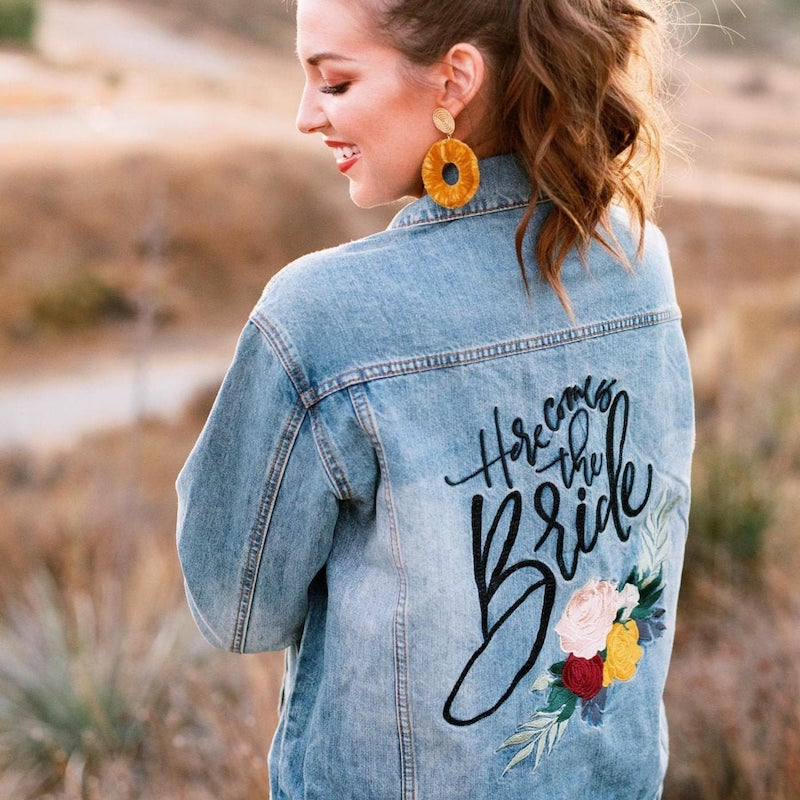 Here Comes the Bride Jean Jacket