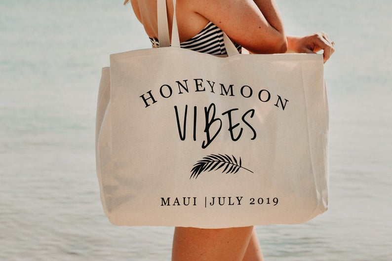 Honeymoon Vibes Beach Bag