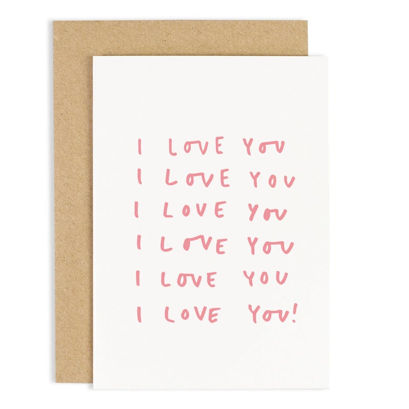 I Love You Repeat Greeting Card