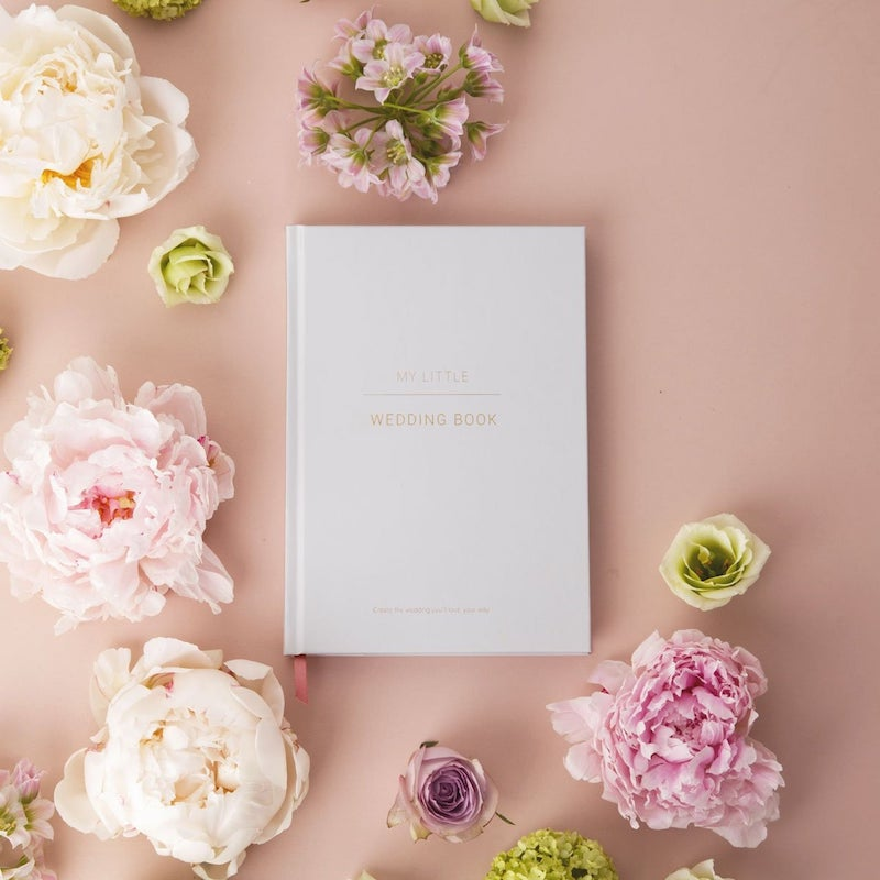 Ice Gray Wedding Planner Book