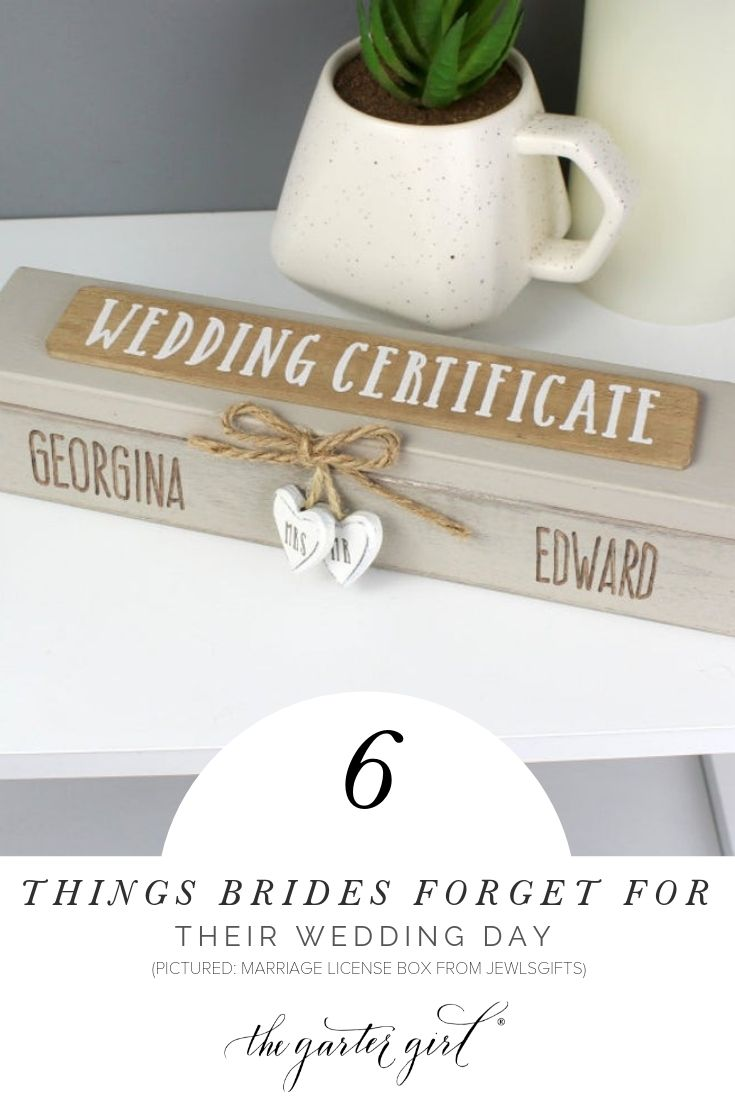 top items brides forget for the wedding day