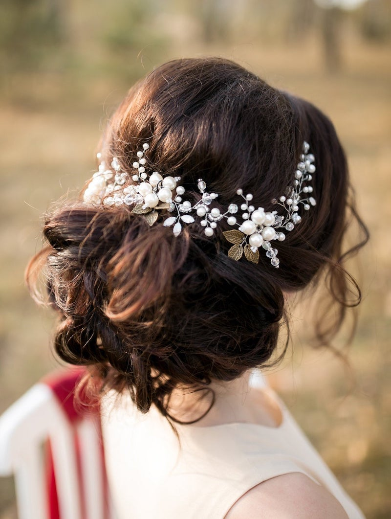 Ivory Bridal Hair Vine