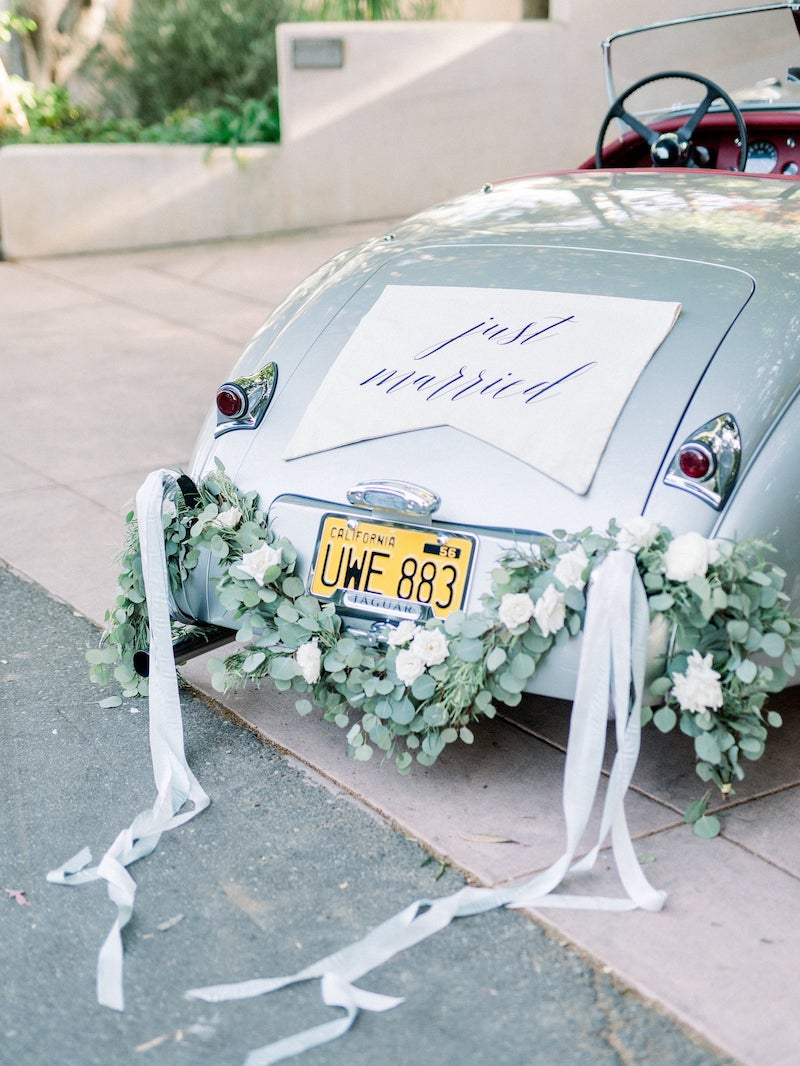 Just Married Car Sign for Elopement Wedding
