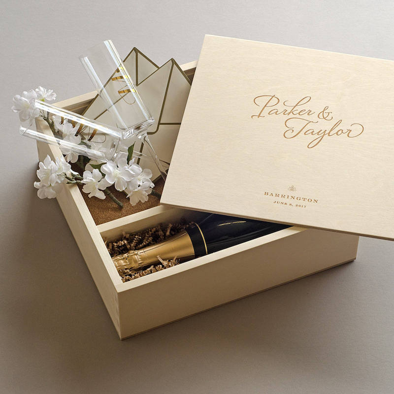 Ceremony Keepsake Wine Box Set Gift