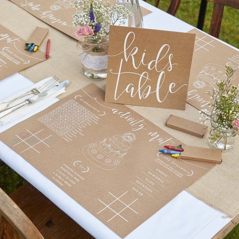 Kids Table Wedding Activity Kit