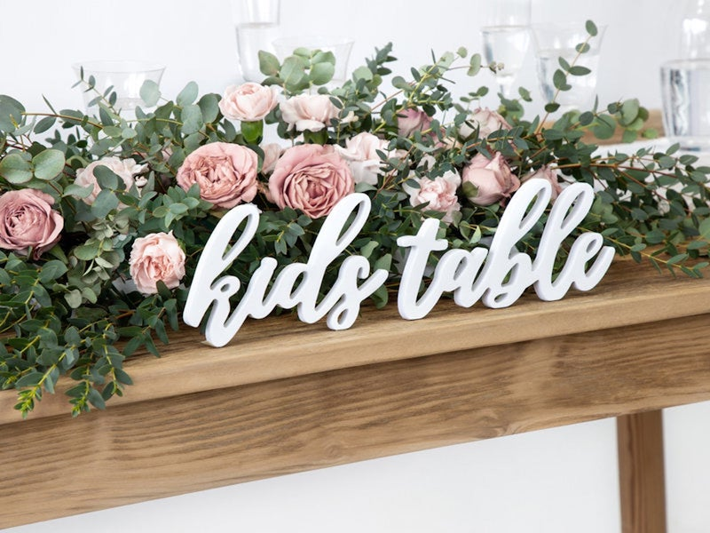 Kids Table Wedding Sign